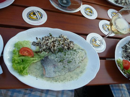 Kipfenberg, Germany: Forell med vitvinssås