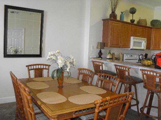 Ocean Villa Condos: Dining Table