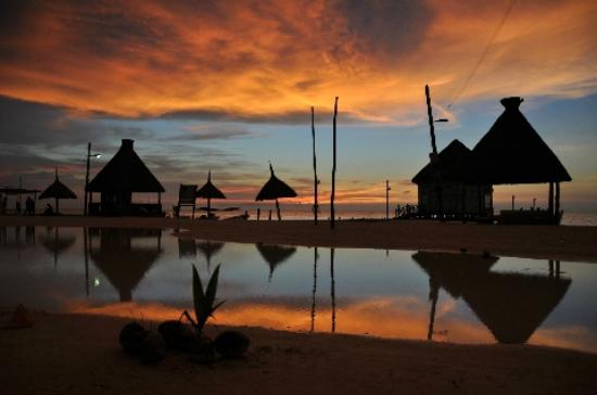 Beachfront La Palapa Hotel Adult Oriented: Sunset over the beach