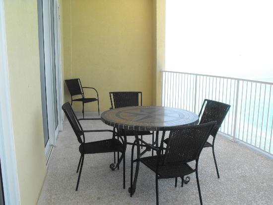 Ocean Villa Condos: Other end of balcony