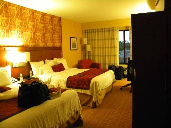 Courtyard by Marriott Fredericksburg Historic District: Nice room with 2 queen beds