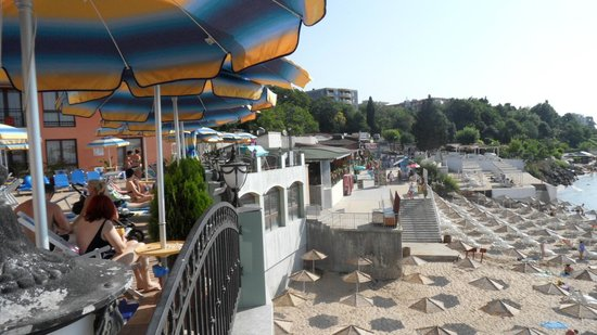 Mirage of Nessebar : Stretch of Nearest Restaurants taken from Pool Area