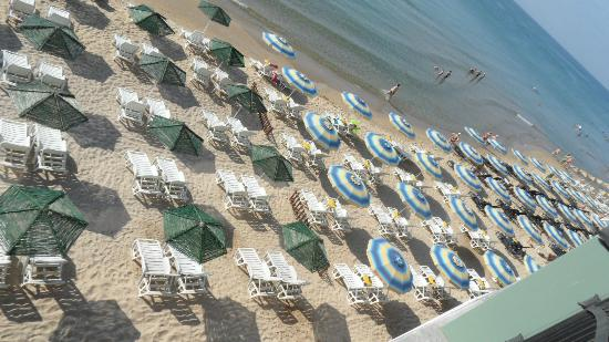Mirage of Nessebar: Miles of Unoccupied, Unpadded and Unlikely to be used Sun Loungers and Parasols.