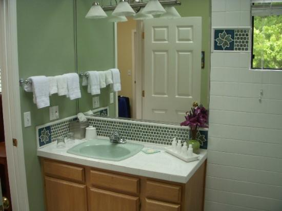 Waianuhea Bed & Breakfast: Suite bathroom