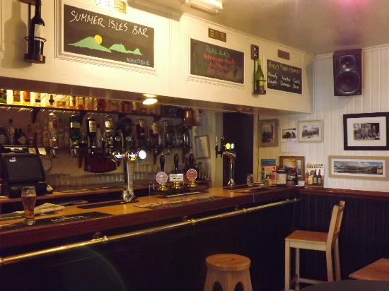 The Summer Isles Bar: The bar counter once inside