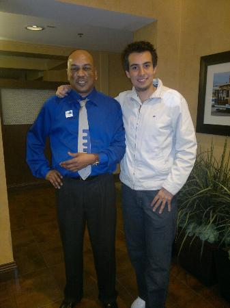 Holiday Inn Express Suites Belmont: Francis! (the guy on the left)