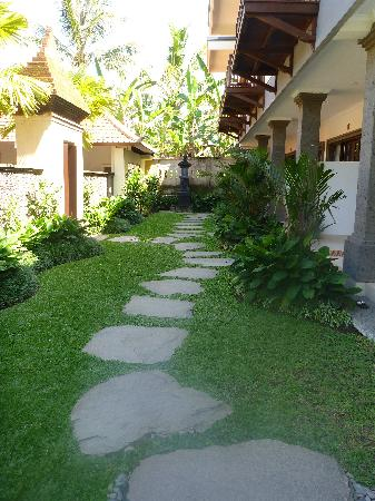 Indira Cottage: the path