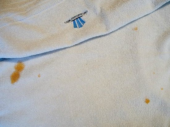 Studio Pueyrredon: stained and heavily worn towels