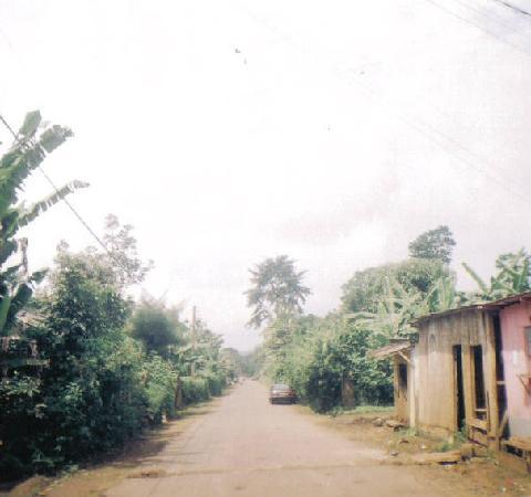 Rural countryside Sao Tome Island
