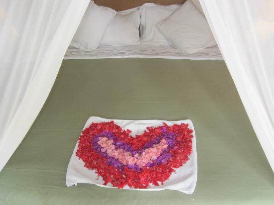 Tonys Villas & Resort: BED - ROMANTIC ROSE PETAL WELCOMING