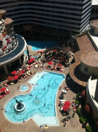 Looking At Pool From Window Of 16th Floor Tuscany Tower