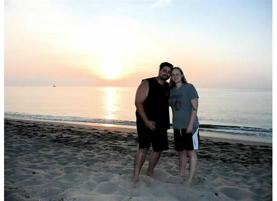 Lighthouse Cove Resort: Us at Sunrise