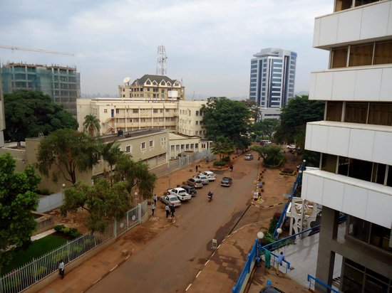 Grand Imperial Hotel : View from Room 312 towards Kampala Road