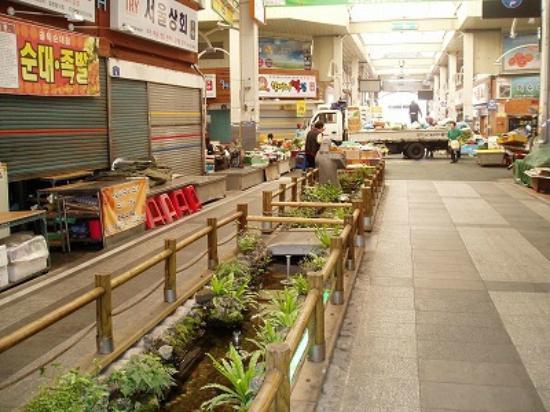Seogwipo Maeil Olleh Market : 水路庭園が備わっている