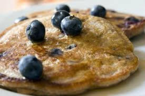 Fresh Blueberry Pancakes on special - yum!