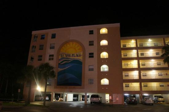 Beach Place Condos at John's Pass Village: at night.. walking back from Johns Pass