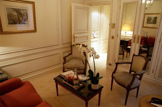 Hotel de Crillon : Le salon (le sofa n'est décidément pas adapté)