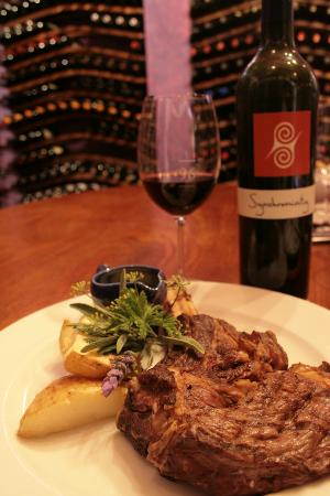 96 Winery Road Restaurant: Dine in the wine cellar