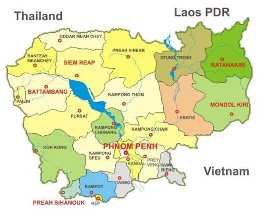 Cambodia Map Picture Of ASIA VIPA Travel Tours Day Tours Siem - Cambodia map