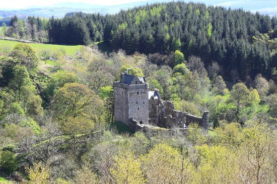 Castle Campbell: Distant shot from north-west
