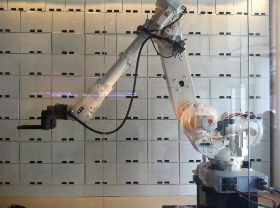 YOTEL New York: The Luggage Storage Robot!