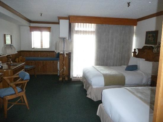 Alpenhof Lodge: Our room- big window, no balcony on this room. TV, hair dryer & toiletries included