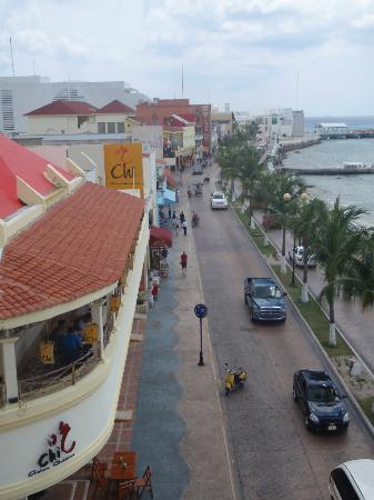 Suites Bahia: Looking south away from the plaza from Bahia Balcony
