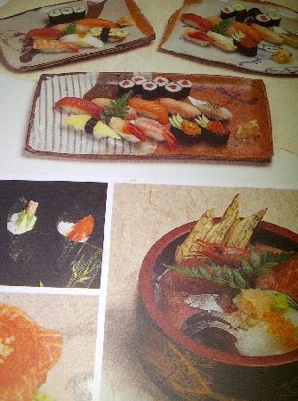 Daruma: Sushi Menu