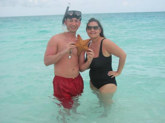 Sands at Grace Bay : Hubby caught a Star Fish