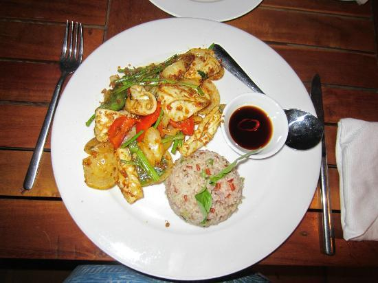 Cassia Cottage - The Spice House: Squid with chilli