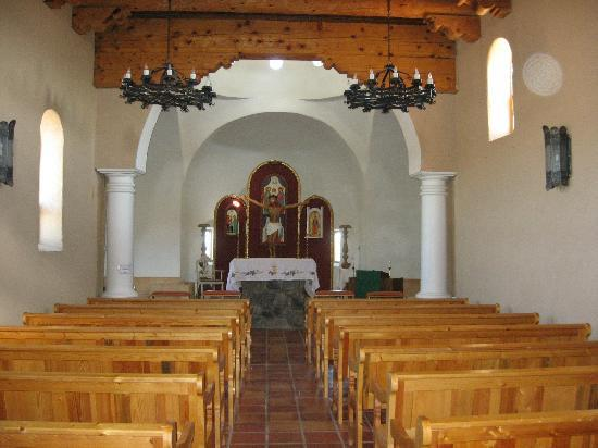 San Luis, CO: Inside Stations of the Cross Church-