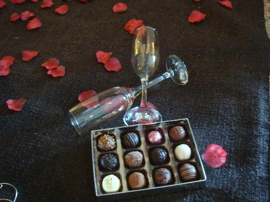 The Howbeck: Champagne and chocolates an available extra