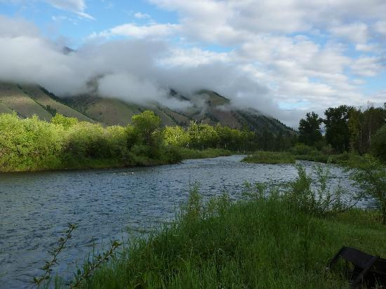 Wagonhammer RV Park & Campground: Early morning clouds over the Salmon River