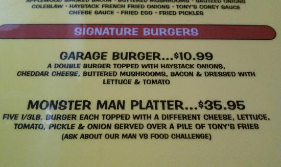 Garage Burger at Tony's Garage Put In Bay, OH