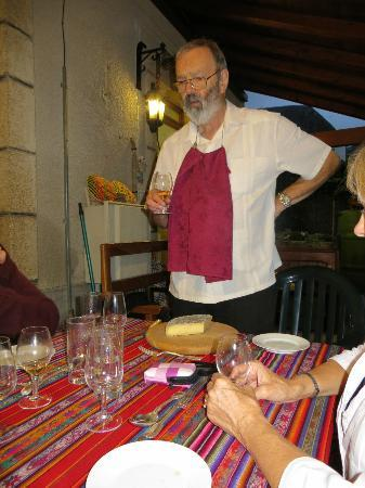 La Souvigne : Ian describing the meal he fixed us