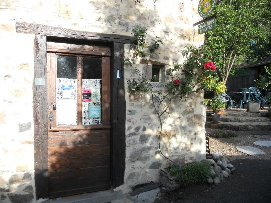 La Souvigne : the door into the house we stayed in