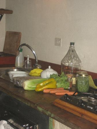Fattoria Barbialla Nuova: fresh veggies from Serenella's garden