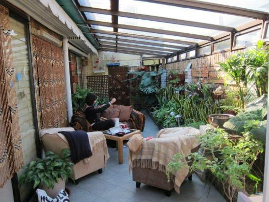 Villa Belladonna B&B: Patio / Aviary