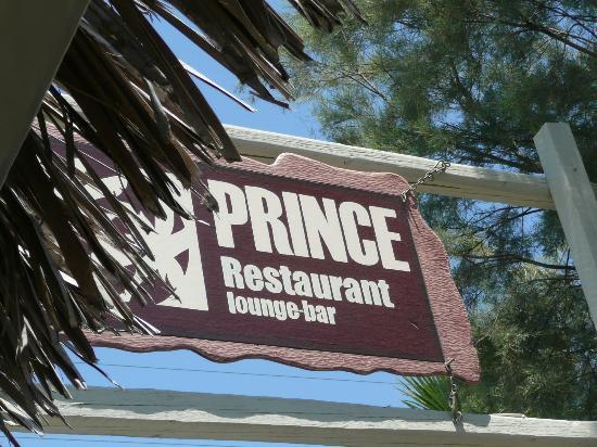 Prince Bar Restaurant: Sign to look out for