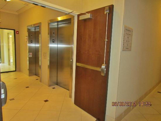 Hilton Garden Inn Cartersville: Elevator lobby