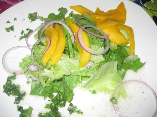 Rio Magnolia Nature Lodge: Green Salad with Mango