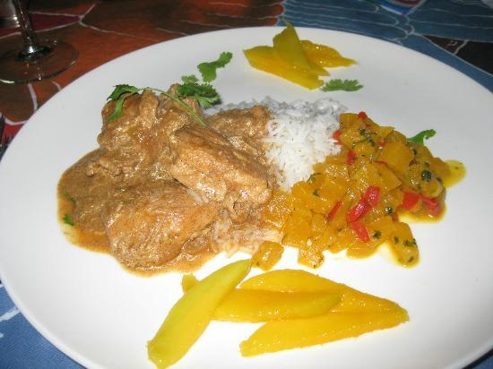 Rio Magnolia Nature Lodge: Chicken Rogan Josh with Basmati Rice