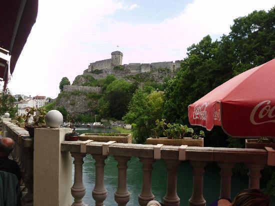 Grand Hotel Moderne: the castle overlooks Lourdes