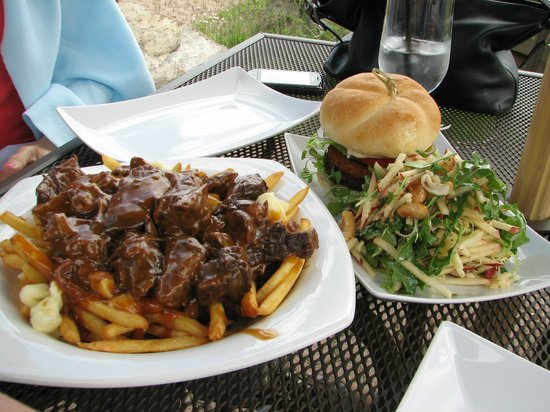 The Juniper Bistro: Poutine & Veggie Burger