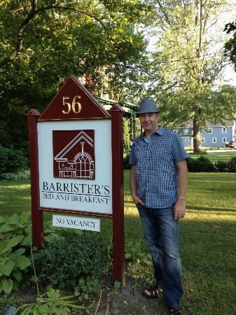 Barrister's Bed & Breakfast : In front of the house!
