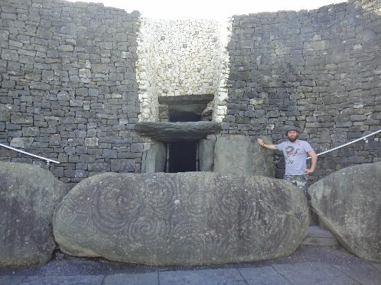Me at the entrance to the Bru Na Boinne