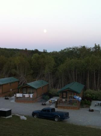 Barrie KOA Campground: view from rec centre/park