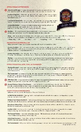 EFFIN TEXAS BAR & GRILL MENU ~ PAGE 2