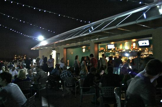 Moonrise Hotel: Jammin' rooftop bar on a weekend night