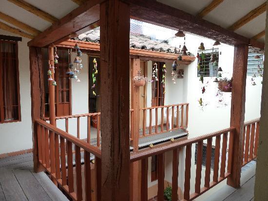 Hostal La Candelaria Bogota: Outside the rooms